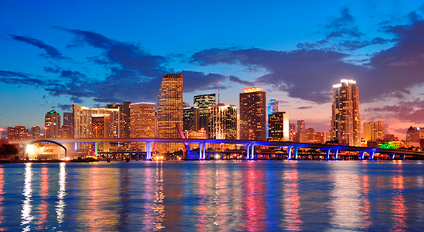the skyline of miami